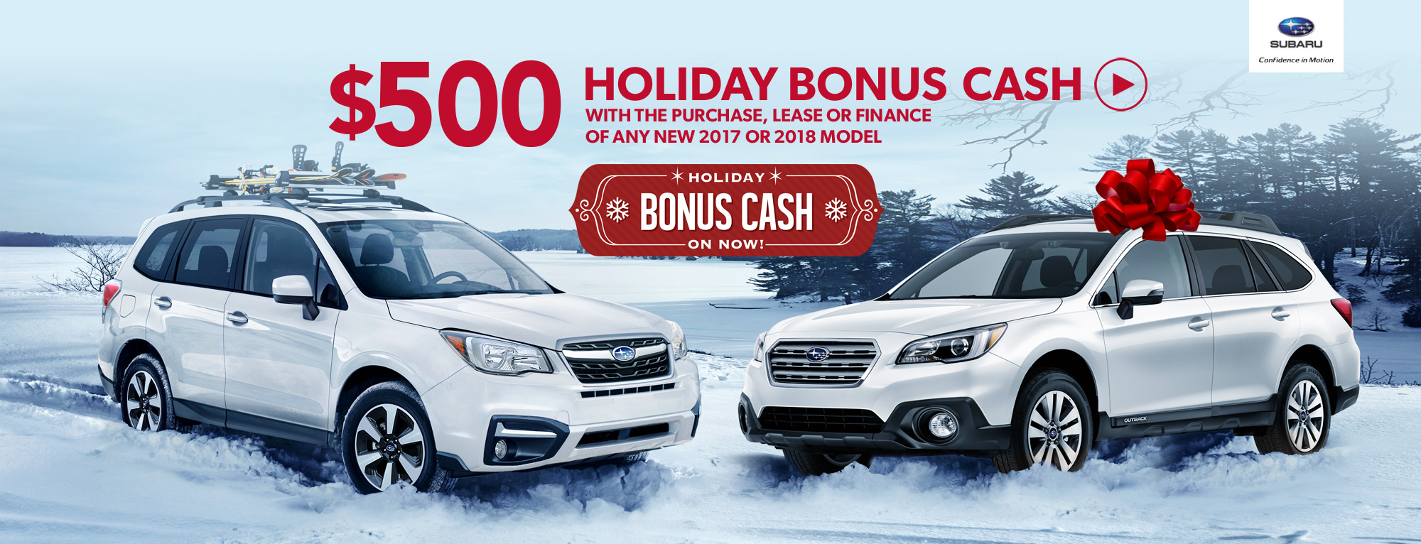Subaru Holiday Bonus