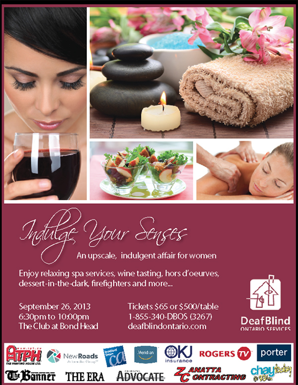 8th Annual Indulge Your Senses | DeafBlind Ontario Services