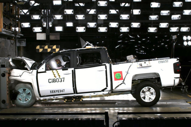 Silverado and sierra are first nhtsa 5 star pickup trucks for General motors assessment test