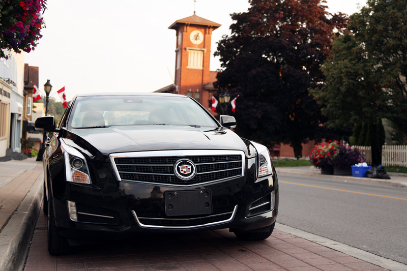 Cadillac ATS on Main Street Newmarket