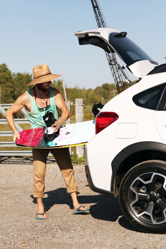 Subaru XV wake boarder