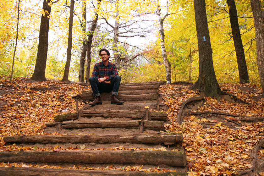 99 Steps at the Thornton Bales Conservation Area photo in the Fall