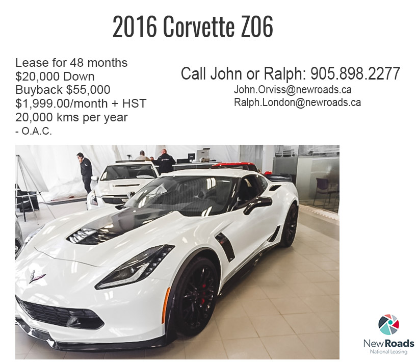 2016 Corvette Z06 lease at NewRoads