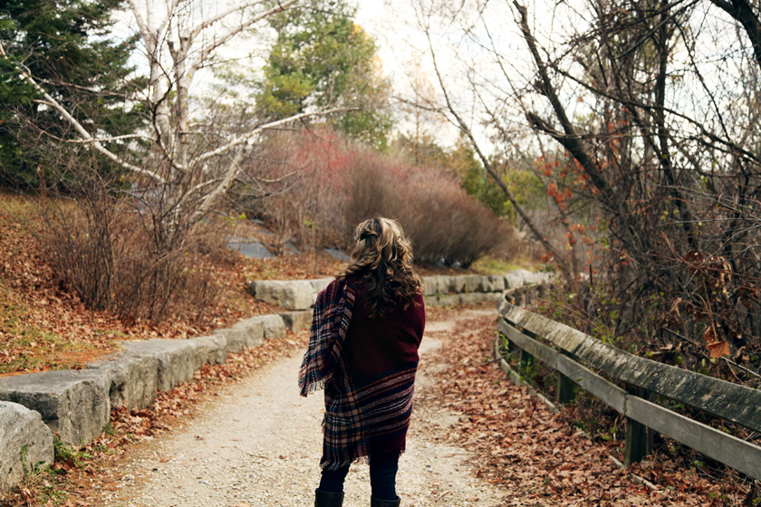 Fall walk in Kleinburg, Ontario