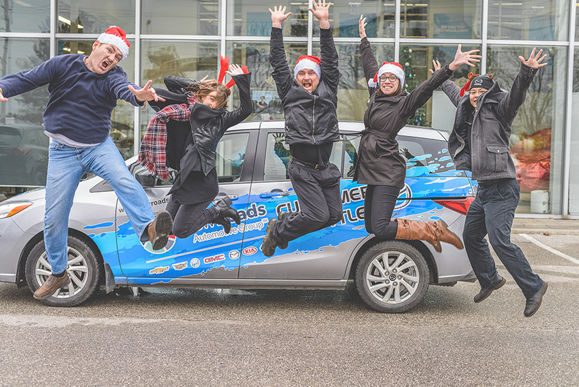NewRoads Mazda Christmas Spirit Day