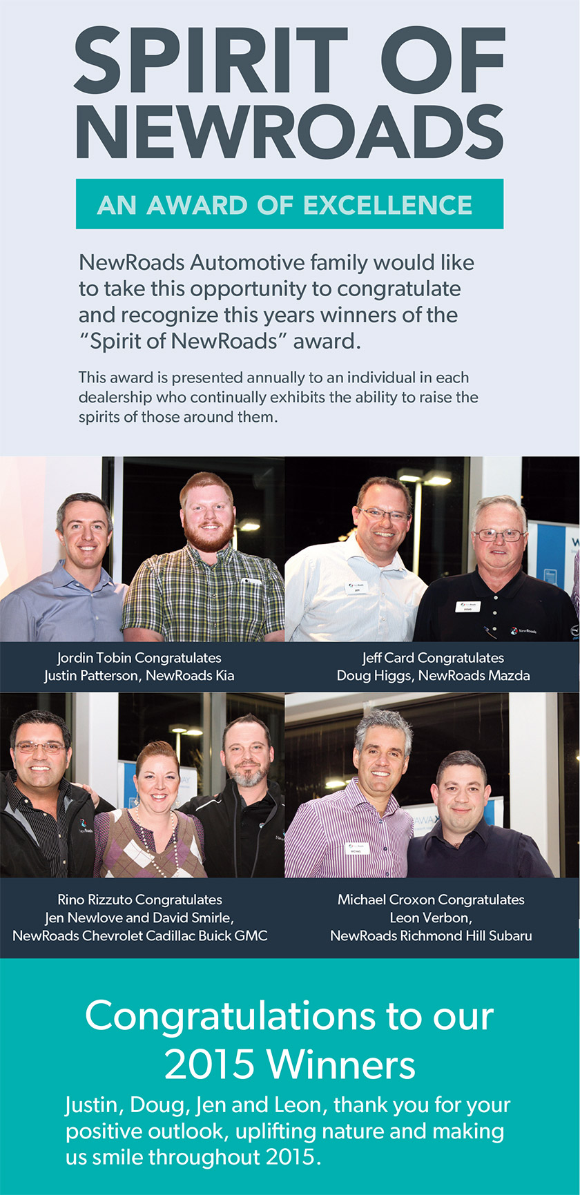 Spirit of NewRoads Awards - Find New Roads