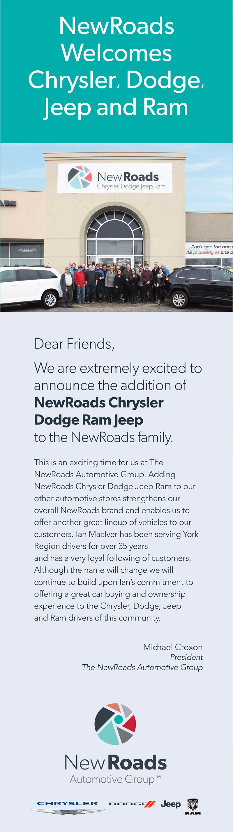 NewRoads Chrysler Dodge Jeep Ram in Newmarket Ontario