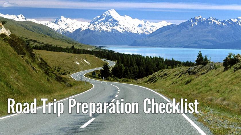 Road Trip Preparation Checklist