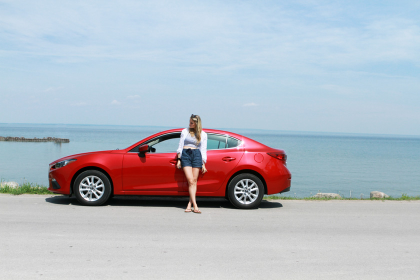Mazda3 at the Beach