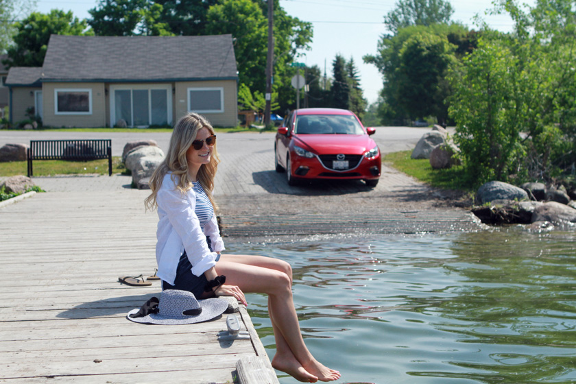 Mazda3 at Willow Beach in Georgina