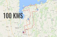 NewRoads LakeRide 100 Kms Route