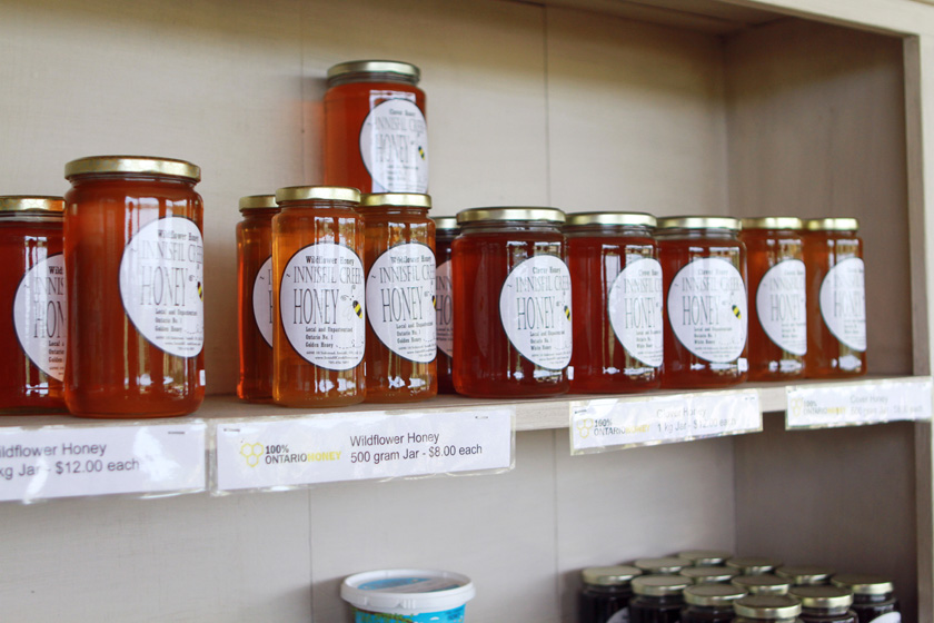 Fresh honey from Innisfil Creek Honey