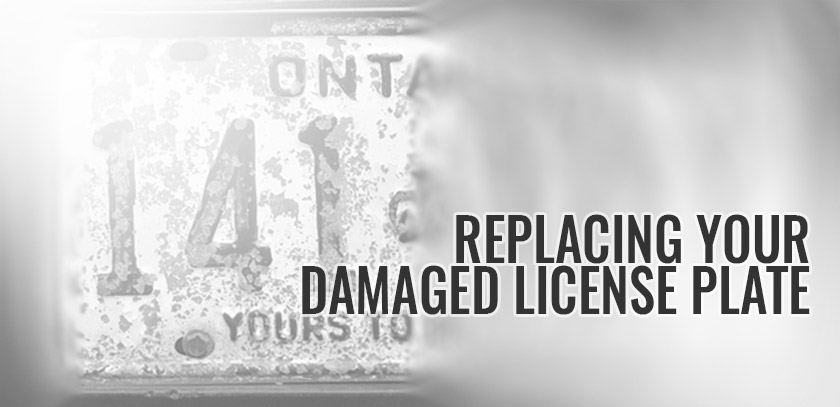 Replacing A Damaged License Plate