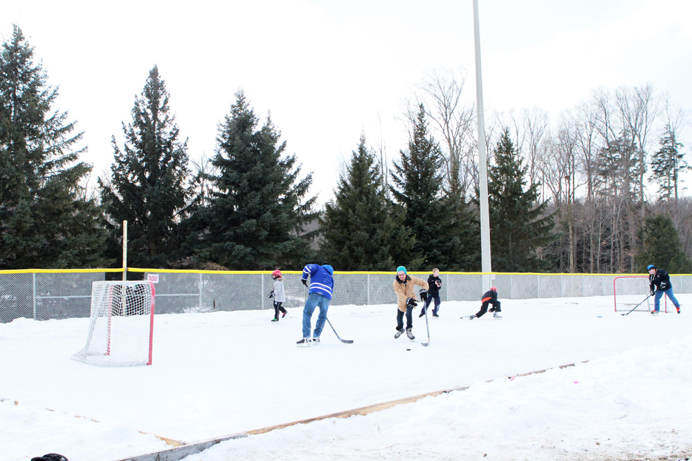 Whipper Billy Watson Park in Newmarket ice rink