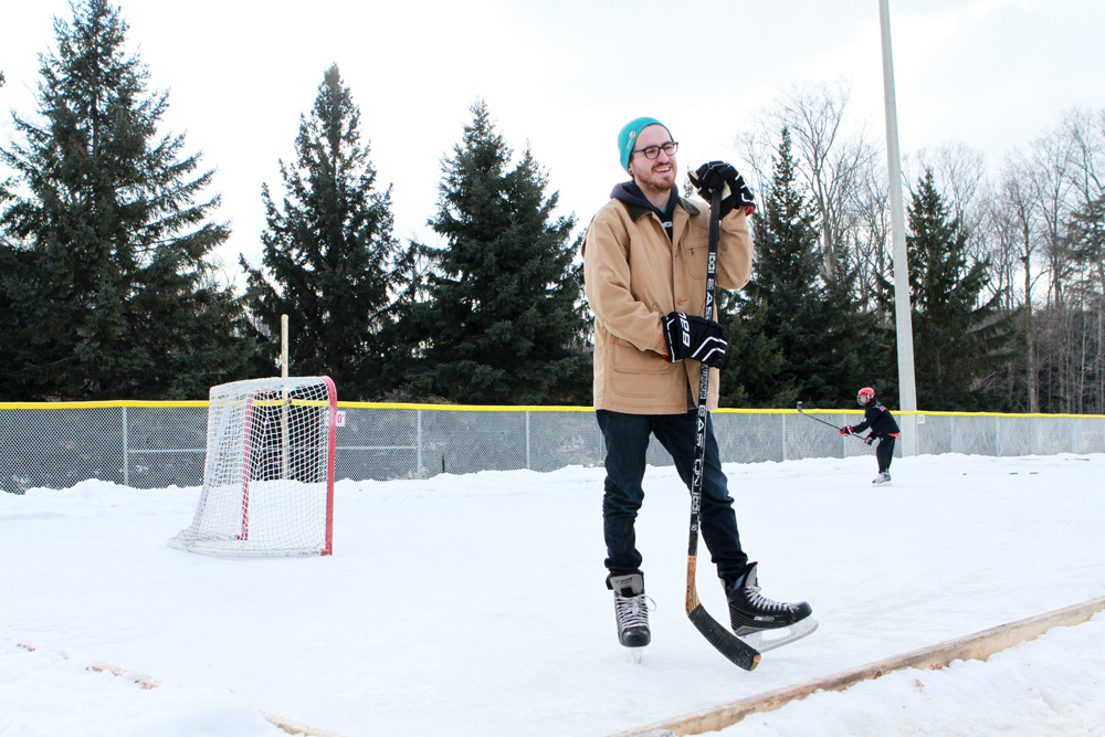 Outdoor hockey photo in Newmarket