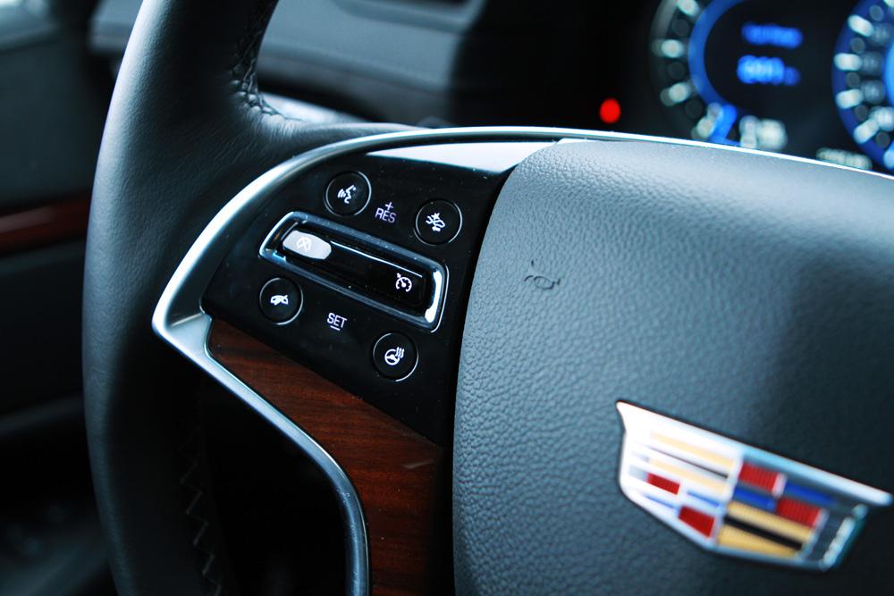 Cadillac Escalade wheel controls