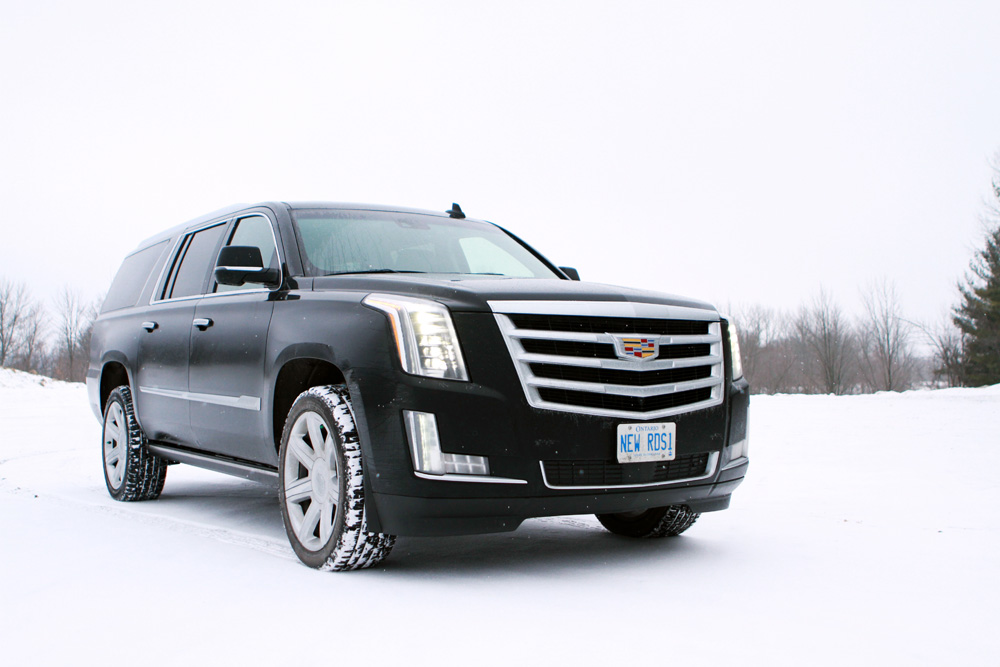 Cadillac Escalade in winter