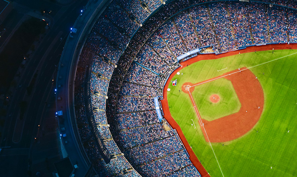 Toronto Skydome photo overhead