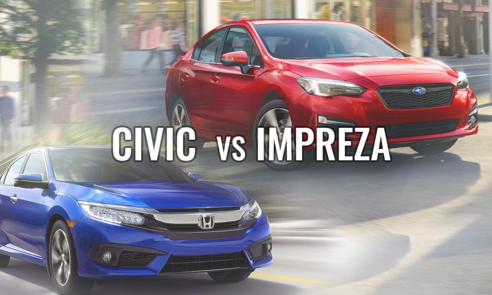 Honda Civic vs Subaru Impreza