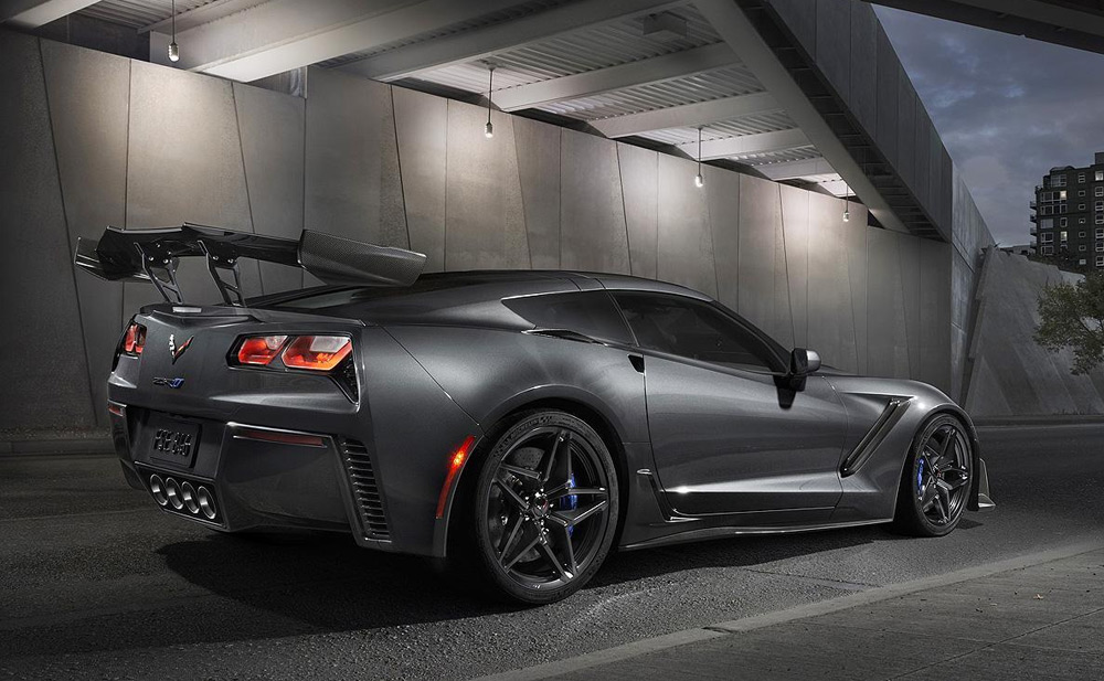 Rear of 2019 Corvette ZR1