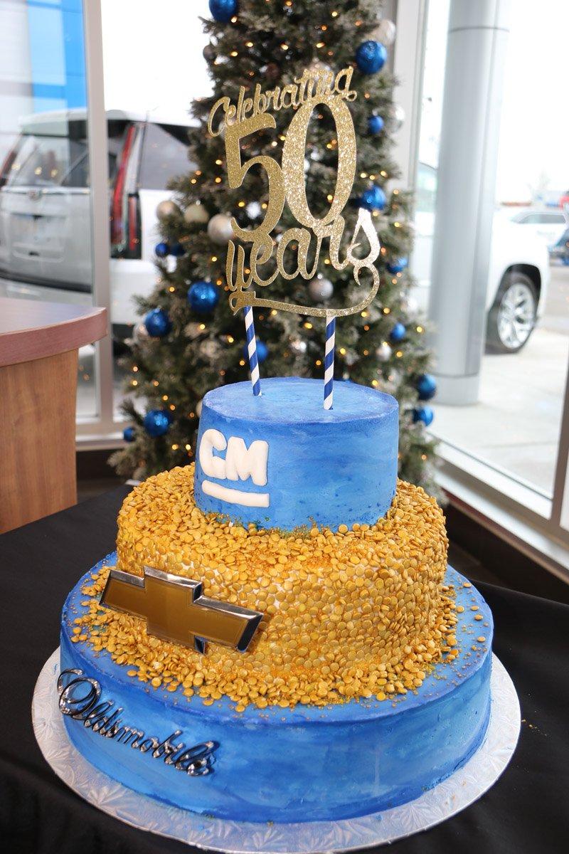 Chevrolet Dealer 50 years cake