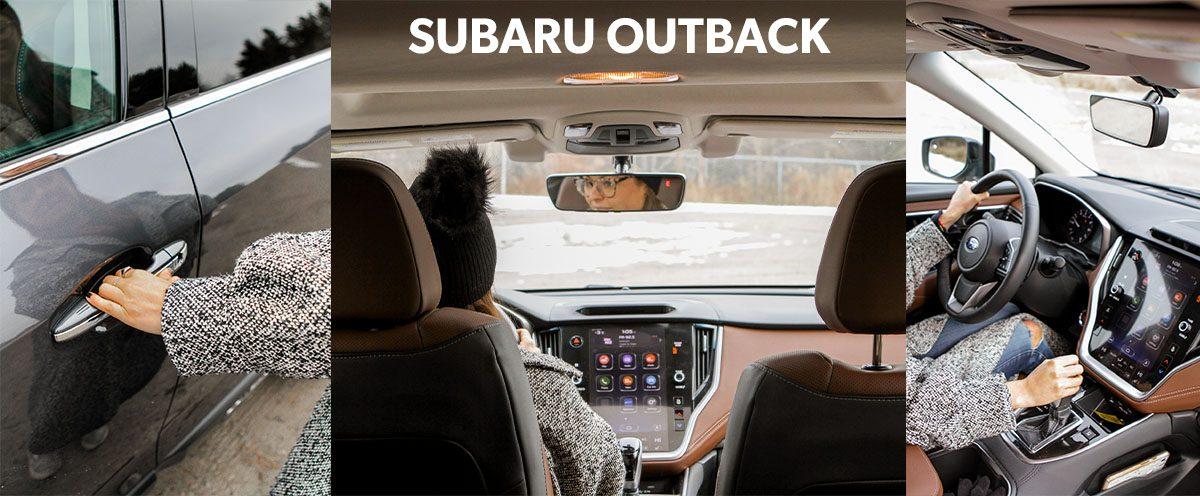 Subaru Outback at Wilcox Lake